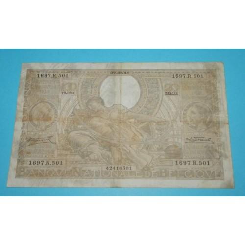 België - 100 frank 1935 - ZF, wat vuil
