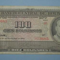 Bolivia - 100 bolivianos 1945