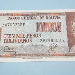 Bolivia - 100.000 bolivianos 1984