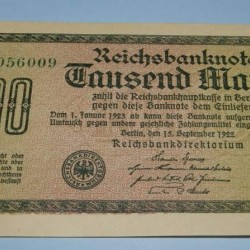 Duitsland - RM1000 - 1922