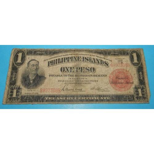 Filipijnen - 1 peso 1924