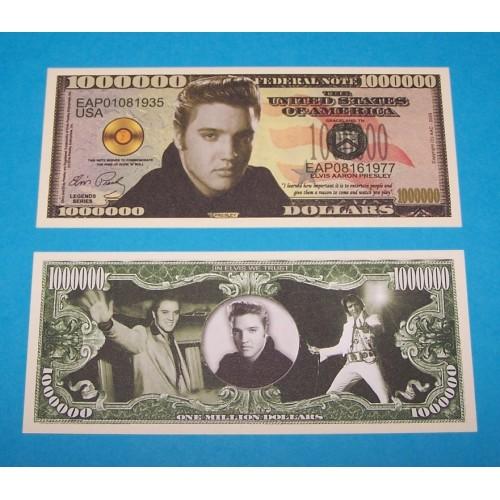 Elvis bankbiljet - miljoen dollar
