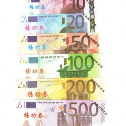 10 Sets van 7 oefenbiljetten - 5-500 Euro