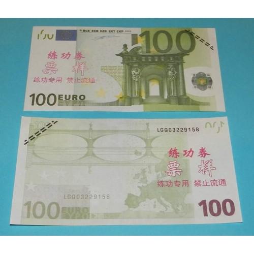 Oefenbiljet - 100 Euro - 3 stuks