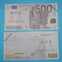 Oefenbiljet 500 Euro - 10 stuks