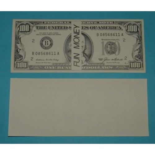 Amerikaans speelgeld biljet - model C - $100 - 10 st.