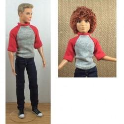 Raglan trui voor Ken etc. - knippatroon