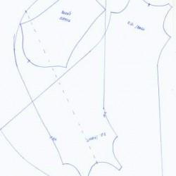 Barbie jurk B - oud knippatroon