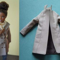 Regenjas voor Barbie etc. - knippatroon