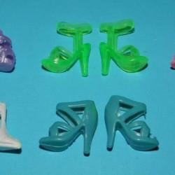 6 Paar schoenen voor Barbie etc. - set CO