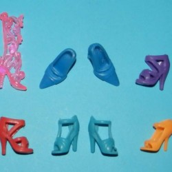 6 Paar schoenen voor Barbie etc. - set CU