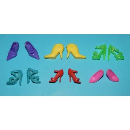 6 Paar schoenen voor Barbie etc. - set CW