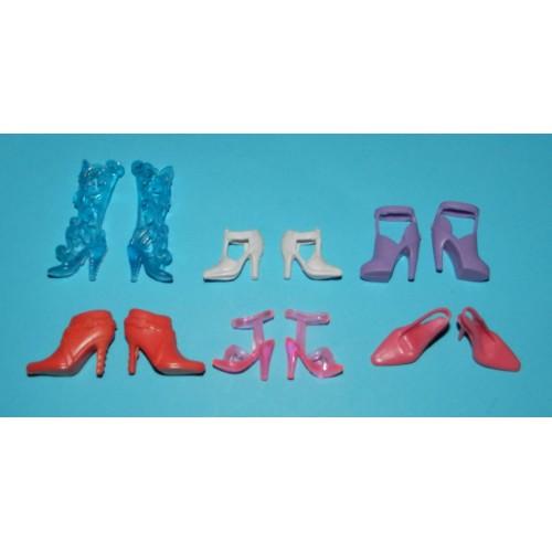 6 Paar schoenen voor Barbie etc. - set DB
