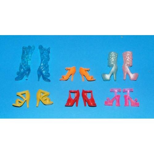 6 Paar schoenen voor Barbie etc. - set DO