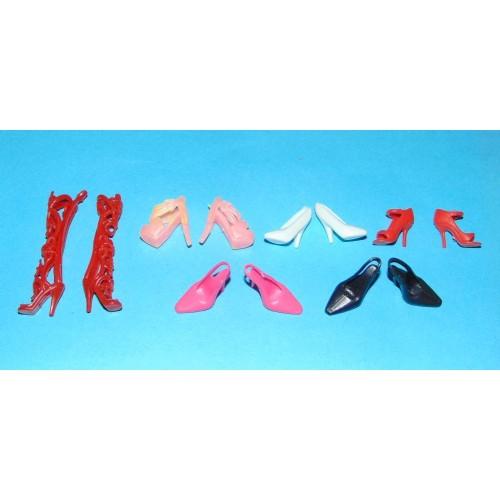 6 Paar schoenen voor Barbie etc. - set DT