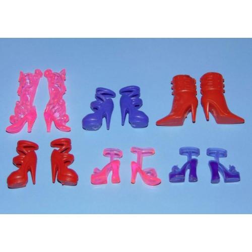 6 Paar schoenen voor Barbie etc. - set DW