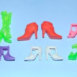6 Paar schoenen voor Barbie e.d. - set DX