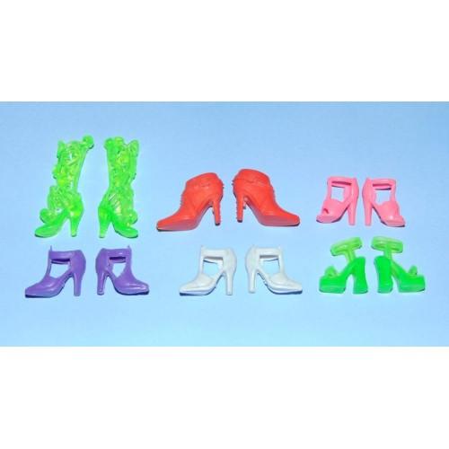 6 Paar schoenen voor Barbie etc. - set DX