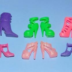 6 Paar schoenen voor Barbie etc. - set EH