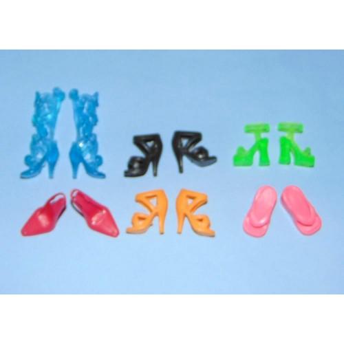 6 Paar schoenen voor Barbie etc. - set EJ