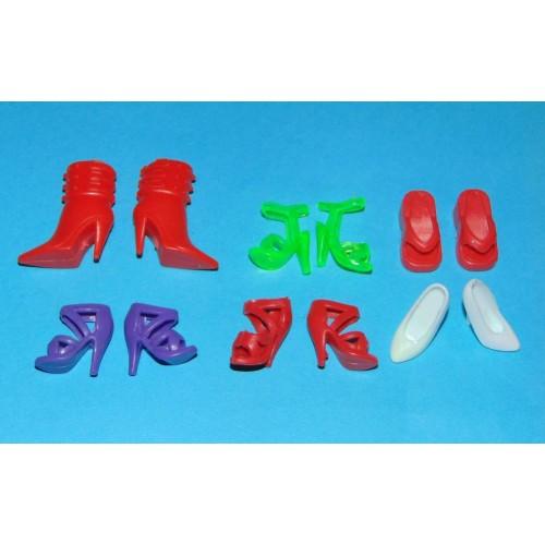 6 Paar schoenen voor Barbie etc. - set EK