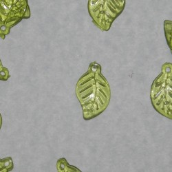 Blad bangle - groene kunststof