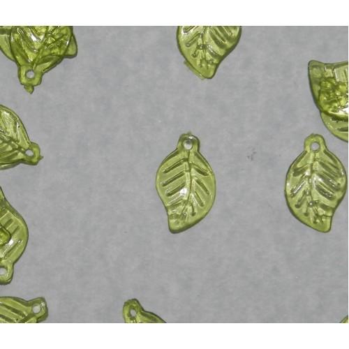 Blad bangle - groene kunststof - 100 stuks
