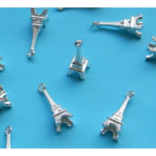 Eiffeltoren bangle, Tibet zilver, model B - 10 st.