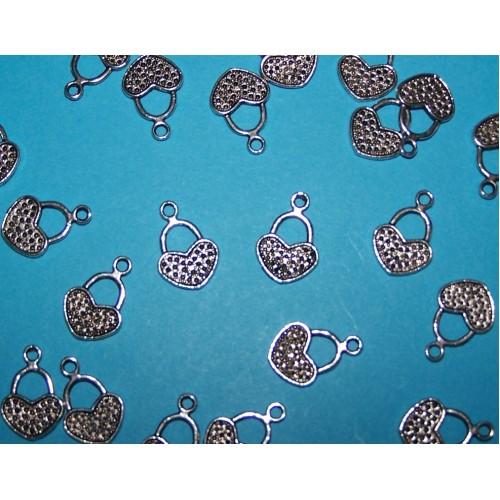 10 Hart bangles - Tibet zilver - model A