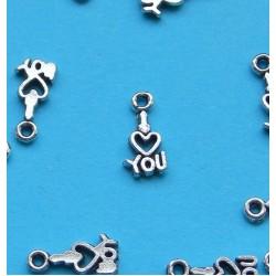"""I love you"" bangle, Tibet zilver, model B"