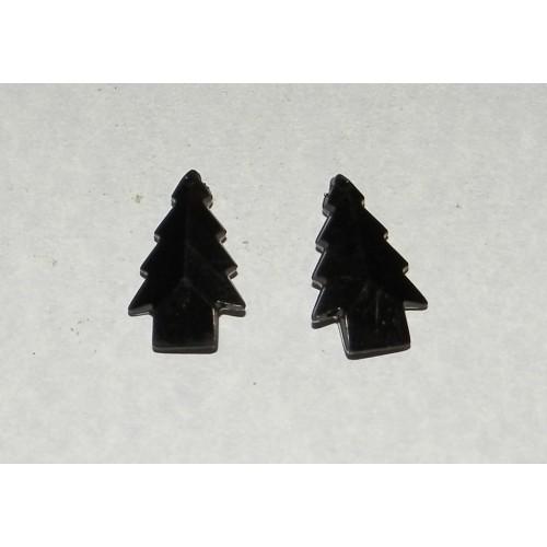 2 Acryl Kerstboom bangles - zwart
