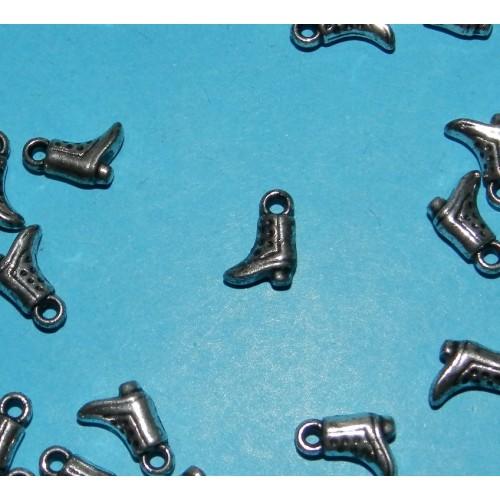 10 Laarsje bangles - zilverkleurig
