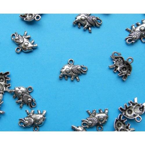 10 Olifant bangles - Tibet zilver - model C
