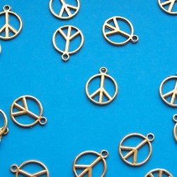 """Peace"" bangle - goudkleurig"