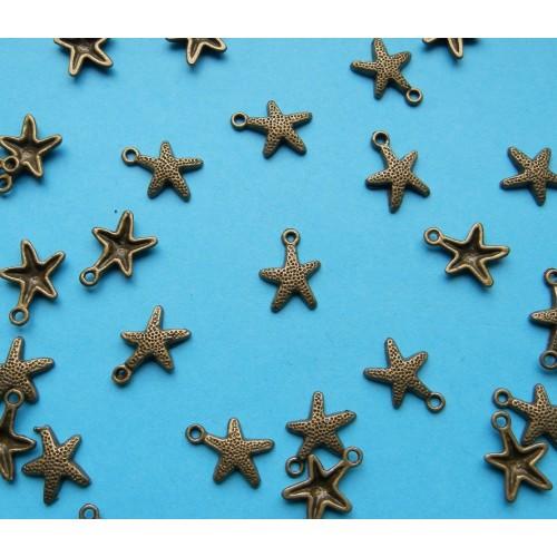 Zeester bangle - brons - 10 stuks