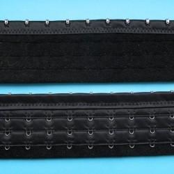 Zwarte corselet verlenger, 13 haakjes