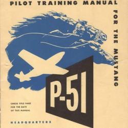 Handboek piloot Mustang P-51 - overdruk - kleur