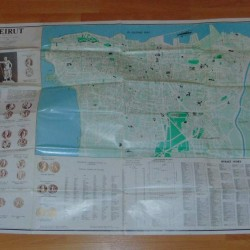 Kaart van Beiroet met klassieke munten