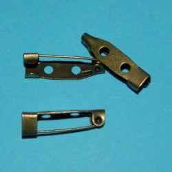Broche speld, bronskleurig, 20mm