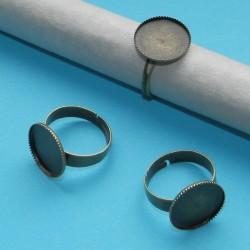 Ring om zelf te decoreren, brons, 14mm vlakje
