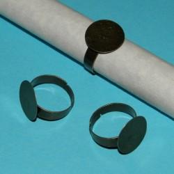 Ring om zelf te decoreren, brons, 15mm vlakje