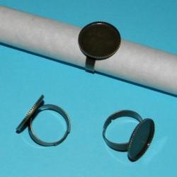 Ring om zelf te decoreren, brons, model C, 18mm vlakje
