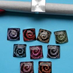 10 ringen om zelf te decoreren, zilver, met cabochon, model D