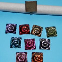 10 Ringen om zelf te decoreren, brons, met cabochon, model D