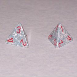 Stel 4-zijdige dobbelstenen, grijs steen effect