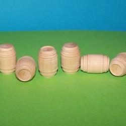 Kleine houten ton voor poppenhuis of maquette