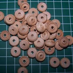 Wiel, hout, auto, 12,5mm