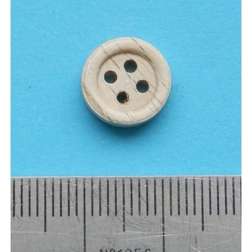Blanke houten knoop - 11mm