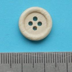 Blanke houten knoop - 15mm