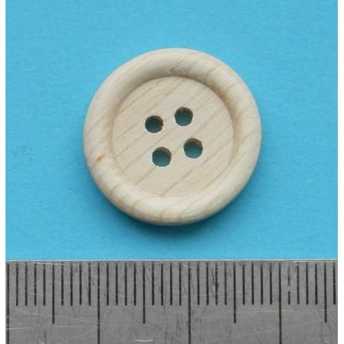 Blanke houten knoop - 20mm